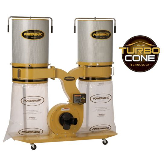 Powermatic PM1900TX-CK3 Dust Collector, 3HP 3PH 230/460V, 2-Micron Canister Kit