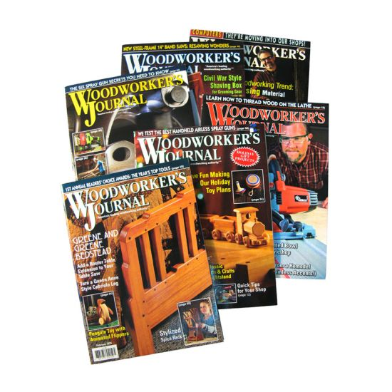 Subscription to Woodworker's Journal Magazine-International Rates (Non-Gift)