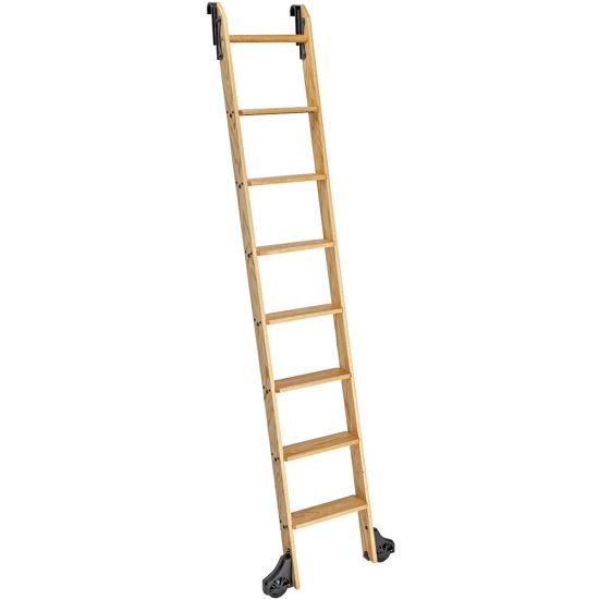8' Rockler Classic Rolling Library Ladder - Wood Kits
