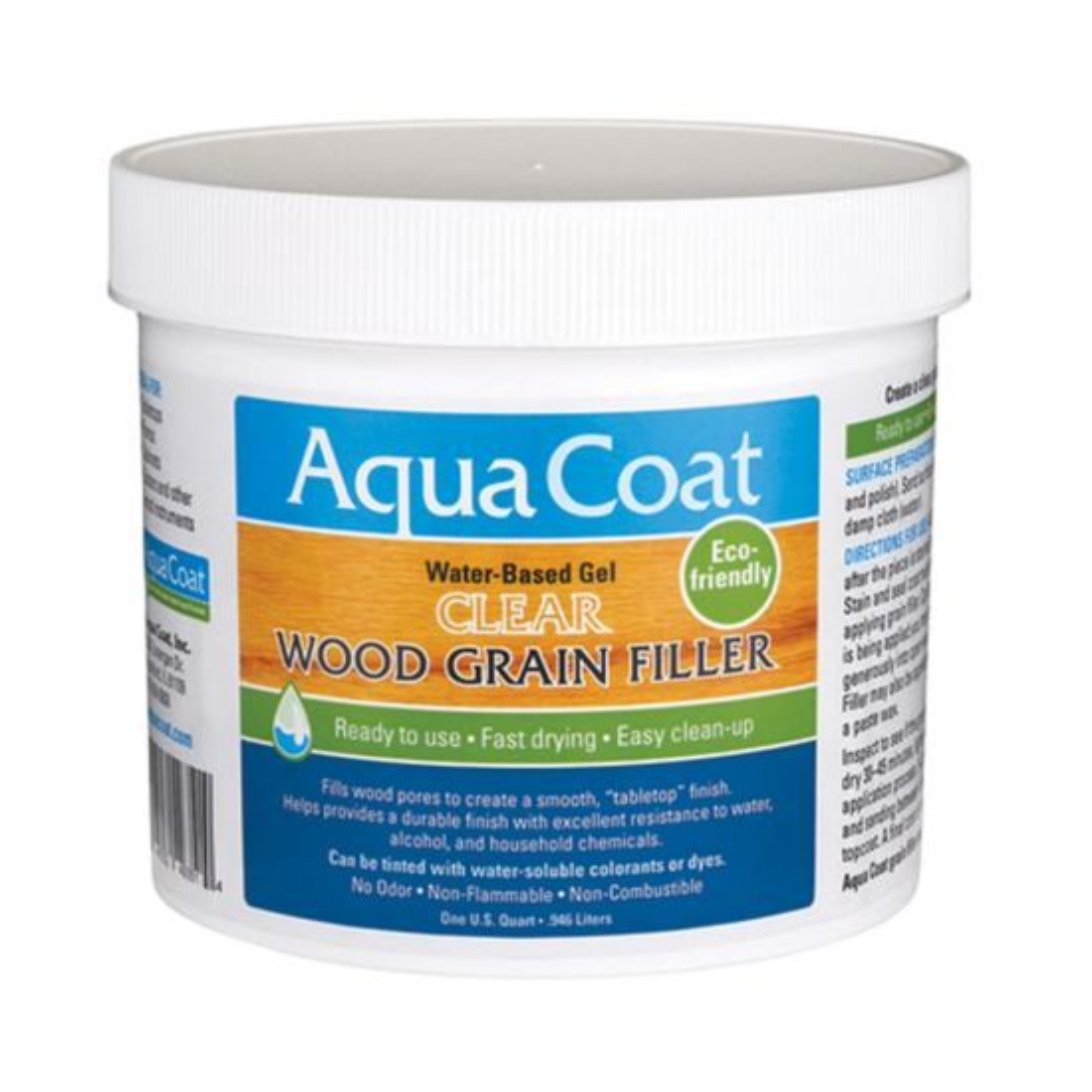 Aqua Coat Clear Wood Grain Filler