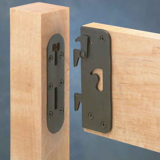 Locking Safety Bed Rail Brackets Rockler Woodworking And
