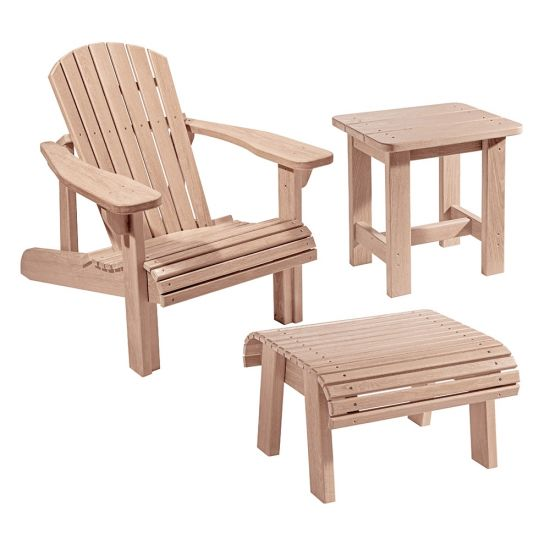 Adirondack Chair Plans And Templates With Foot Stool Side Table