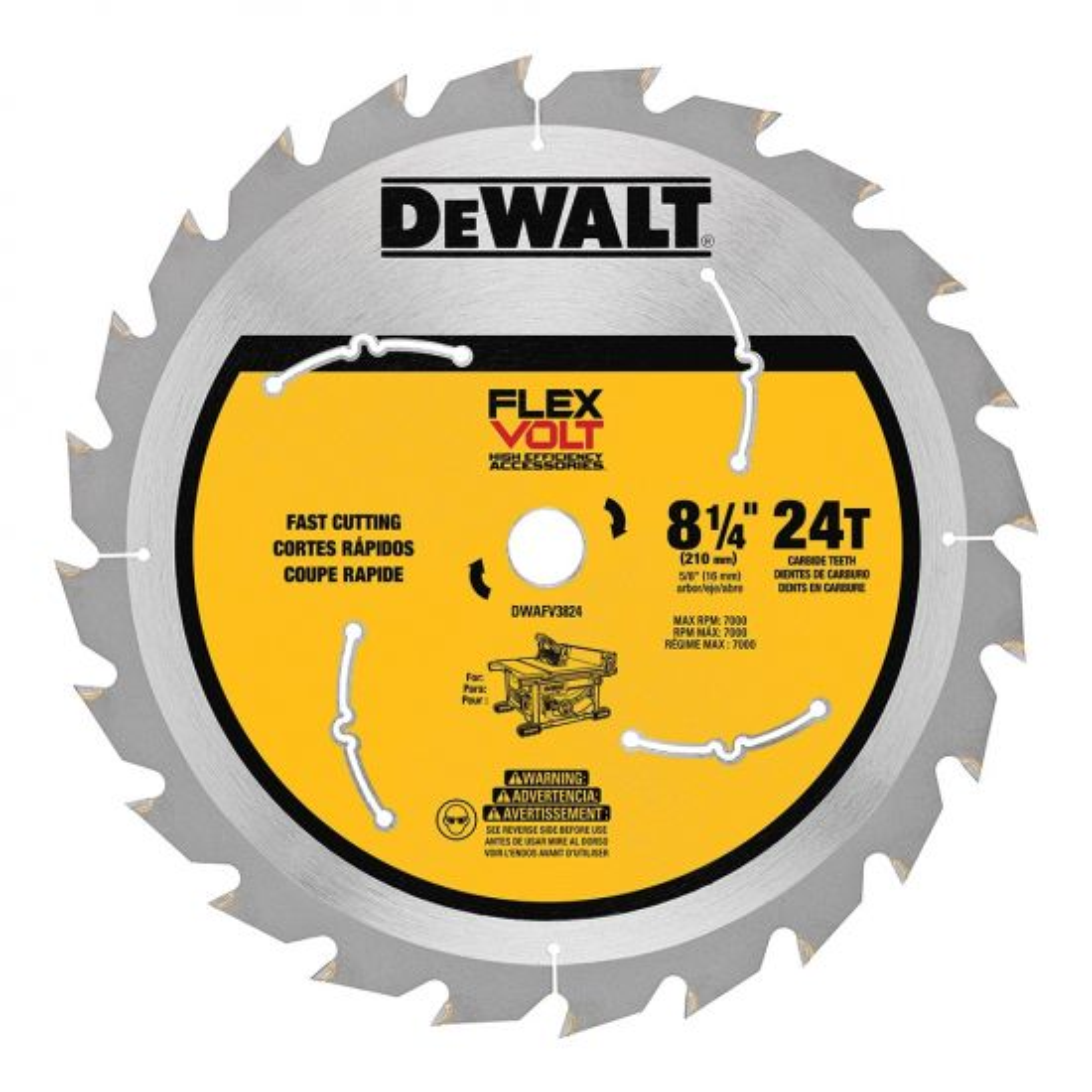 FlexVolt® Table Saw Blades