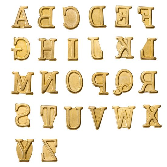 HotStamps for Woodburning Tool, Uppercase Letters