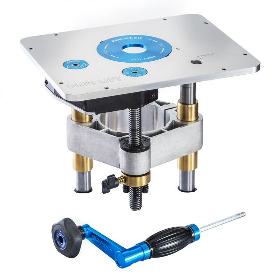 Rockler Pro Lift Router Lift, 9-1/4'' x 11-3/4'' Plate