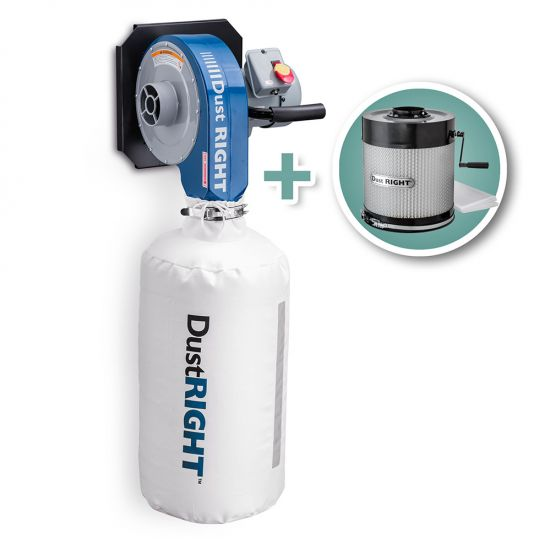 Rockler Dust Right® 650 CFM Wall-Mount Dust Collector with Canister Filter