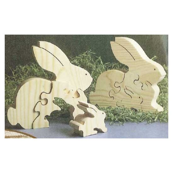 Scroll Sawn Bunny Rabbit Puzzle Downloadable Plan