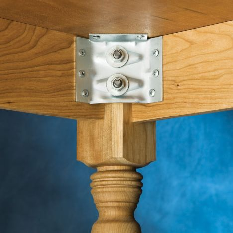 Surface Mount Corner Brackets For Table, How To Install Furniture Leg Mounting Plates