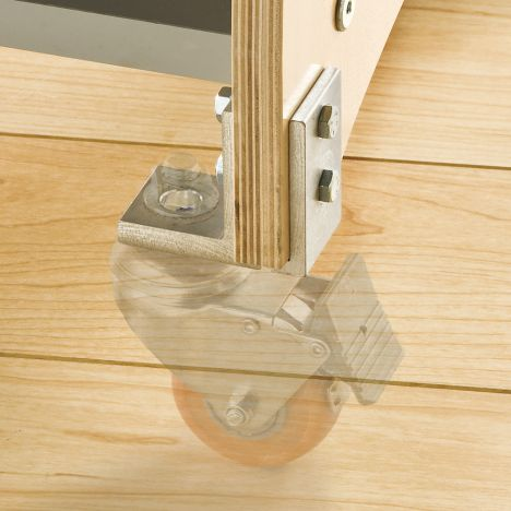 Bench Dog Caster Brackets 4 Pack Rockler Woodworking And Hardware