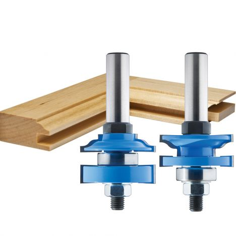 1 5 8 2 Pc Ogee Stile And Rail Router Bit Set Rockler Woodworking And Hardware