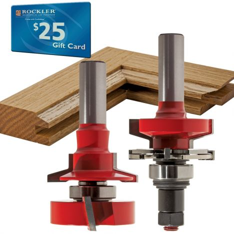 1 11 16 Freud 99 764 Bevel Rail And Stile Router Bit Set Rockler Woodworking And Hardware