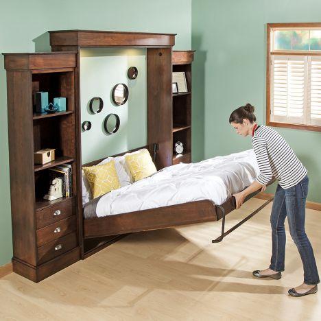 Vertical Mount Deluxe Murphy Bed, Twin Size Deluxe Murphy Bed Kit
