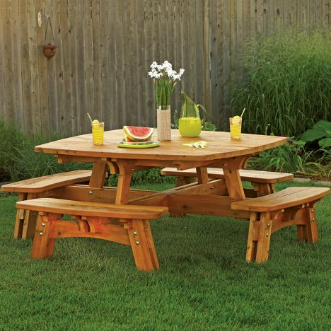 Square Picnic Table Plan Rockler Woodworking And Hardware