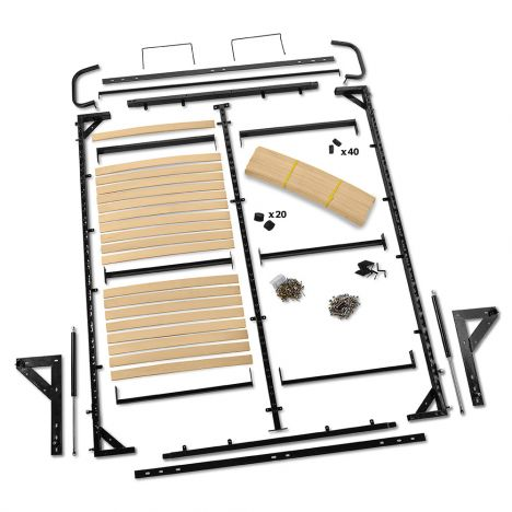 I Semble Vertical Mount Murphy Bed, Queen Murphy Bed Hardware