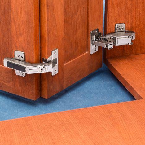 Blum 170 Pie Corner Hinge Kit Frameless Full Overlay Rockler Woodworking And Hardware