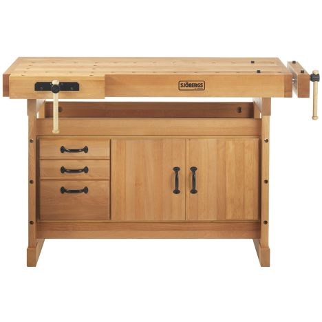 Sjobergs Scandi Plus Workbench 1425 With Sm03 Cabinet Rockler Woodworking And Hardware
