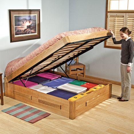 Platform Bed Lift Mechanism With Full, Make Platform Bed With Storage