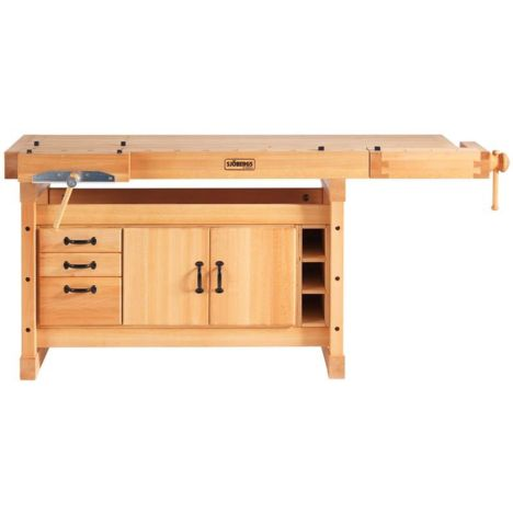 Sjobergs Sb119 Tail Vise Workbench With Sm05 Cabinet Rockler