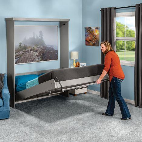 Rockler Adjustable Deluxe Murphy Bed, Twin Size Deluxe Murphy Bed Hardware Kit Horizontal