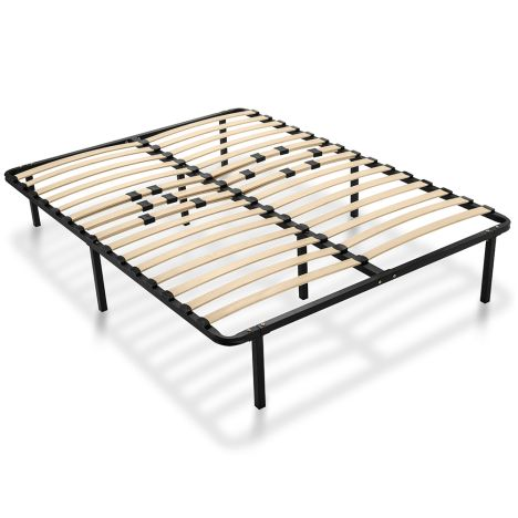 Platform Bed Frame With Wooden Slats, Why Do Bed Frames Have Slats
