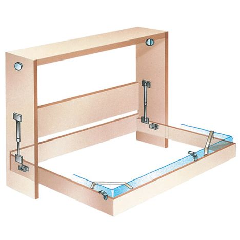 Side Mount Murphy Bed Hardware Select Size Rockler Woodworking And Hardware
