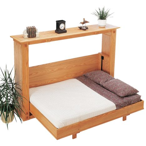 Rockler S Folding Murphy Bed Plan For, Queen Size Murphy Bed Plans