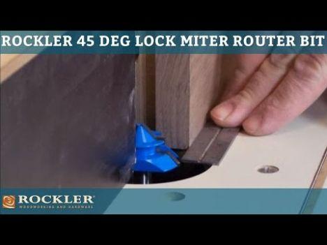 45 Degree 1//4/'/' Shank 1-1//2/'/' Lock Miter Router Bit Woodwork Tenon Cutter Tools
