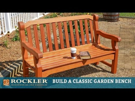 English Garden Bench Templates With Plan Rockler
