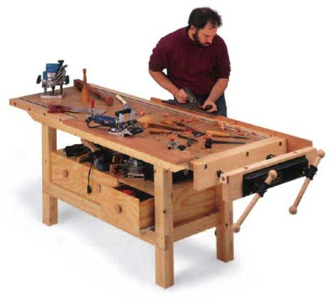 Woodworker S Journal Budget Workbench Plan Rockler Woodworking And Hardware