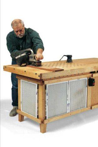 Woodworker S Journal Downdraft Workbench Plan Rockler Woodworking And Hardware