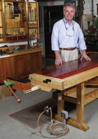 Woodworker S Journal A Traditional European Workbench Plan Rockler Woodworking And Hardware