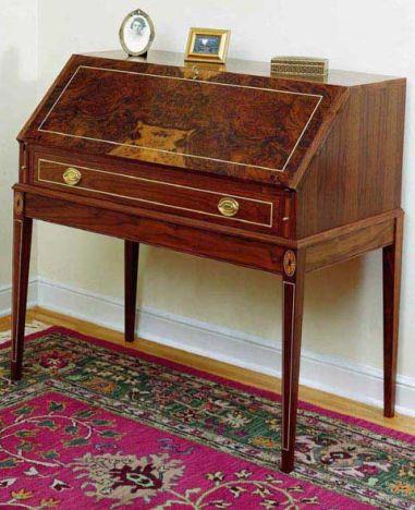 Woodworker S Journal Federal Secretary Desk Plan Rockler Woodworking And Hardware