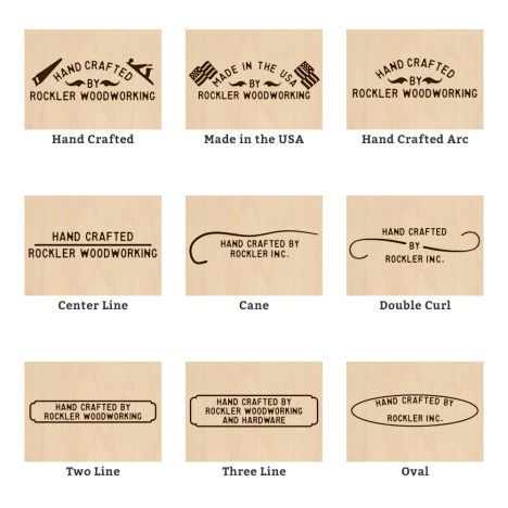 Custom Branding Iron 15 Styles Available Rockler Woodworking And Hardware