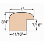 """1"""" Round Over Oak Picture Frame Molding"""
