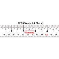 PMS (inches/metric) measuring tape