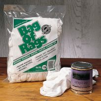 One pound of white knit wiping rags will help you take care of all kinds of cleanup