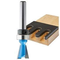 "Rockler 14° Dovetail Pattern Router Bit - 1/2"" Dia x 1/2"" H x 1/4"" Shank"
