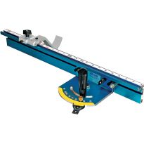 Includes miter gauge, 24' fence, self-adhesive tape and flipstop.