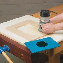Rockler Router Plate Template