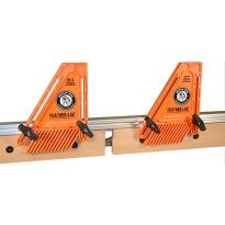 Solid support for both infeed and outfeed fences � just slide them into the 1/4' T-track.