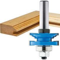 "Rockler Classical Reversible Rail & Stile Router Bit - 1-5/8"" Dia x 15/16"" H x 1/2"" Shank"