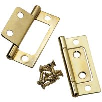 """Brass Plated Hinge, (A) 3/4"""", (B) 15/16"""", (C) 2-1/2"""" - Pair"""