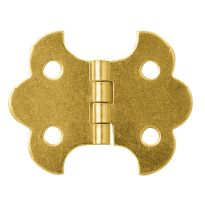 "Brass-Plated Butterfly Small-Box Fastener Hinge 1 1/4""L x 5/8""W"