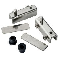 Polished Chrome Glass Door Pivot Hinges