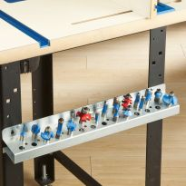 Easily mounts to the side of your router table stand