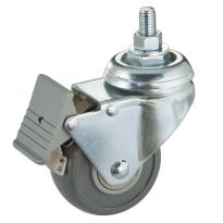 Solid steel body with total-lock foot brake