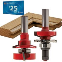 "Freud® 99-764 Bevel Rail and Stile Router Bit Set - 1-11/16"" Dia x 1-1/4"" H x 1/2"" Shank"