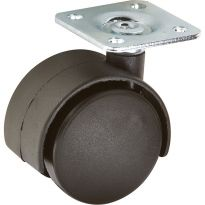 Heavy Duty Twin Wheel Caster -Non-Locking, Plate