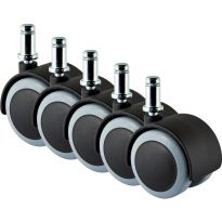 Slipstick Rubber Caster Wheels, Pack of 5