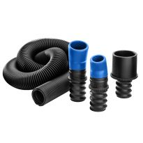 The Expandable 1-1/2'' ID Dust Hose and three included ports